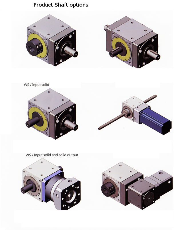 Hollow Shaft Bevel Gearbox Rototime Servo Gearbox